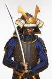 Samouraïs dans l'armure Images libres de droits