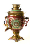 Samovar. Beautiful Tula samovar, on a white background Stock Image