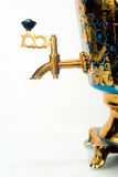 Samovar. Fragment of traditional russian samovar (self-pitch royalty free stock images