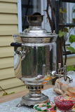 Samovar in the country. Tatarstan Royalty Free Stock Image