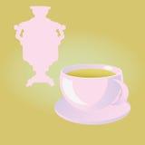 Samovar and a cup of tea. Royalty Free Stock Photos