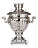 Samovar do chá do russo do vintage isolado no branco Fotos de Stock Royalty Free