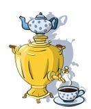 Samovar et tasse de thé Images libres de droits