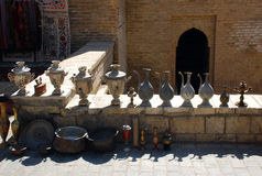 Samovar, kumgans - comercio Fotos de archivo libres de regalías