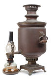 Samovar and lamp Royalty Free Stock Photos