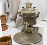 Samovar - a machine for preparing hot water Stock Photos