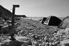 Samovar na praia Foto de Stock Royalty Free