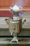 Samovar on porch Royalty Free Stock Images