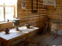 Samovar and pottery Stock Photography