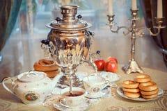 Samovar and tea Stock Photos