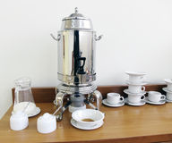 Samovar and tea things Stock Photography