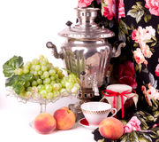Samovar, a traditional old Russian tea Royalty Free Stock Photography