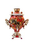 Samovar traditionnel russe d'isolement Photos stock