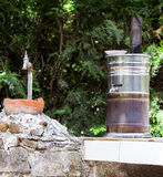 Samovar and The Water Tap Royalty Free Stock Photography