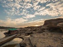 Sampán-bok Ubonratchathani, Tailandia Grand Canyon imágenes de archivo libres de regalías