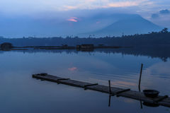 Sampaloc Lake. San Pablo City in philippines Royalty Free Stock Image