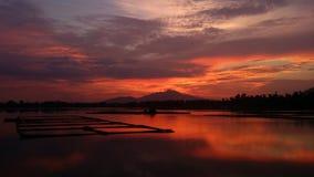 Sampaloc Lake. Sunset at Sampaloc Lake, San Pablo Laguna, Philippines. Shot taken using samsung note 3 Royalty Free Stock Images