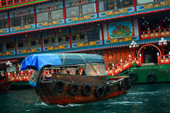 Sampan, Абердин, Гонконг Стоковые Фото
