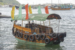 Sampan в гавани Гонконга Стоковое Фото