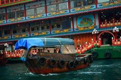 Sampan Aberdeen, Hong Kong Arkivfoton