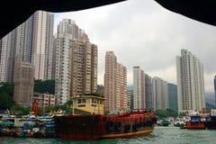 Sampan Aberdeen, Hong Kong Royaltyfri Foto