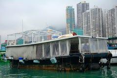 Sampan Aberdeen, Hong Kong Royaltyfria Bilder