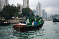 Sampan Aberdeen, Hong Kong Arkivbilder