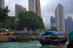 Sampan Aberdeen, Hong Kong Royaltyfri Bild