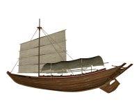 Sampan boat - 3D render Stock Photography