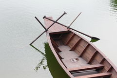 Sampan boat from the top Royalty Free Stock Photo