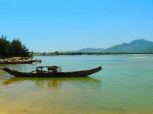 Boat (Sampan) Central Highlands, Vietnam Stock Photo