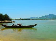 Boat (Sampan) Central Highlands, Vietnam Stock Photo