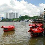 Sampan Ride at Kuching Waterfront. Stock Images