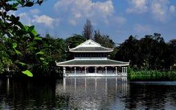 Sampan, Thailand: Chinese Water Pavilion Stock Photography
