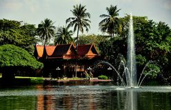 Sampan, Thailand: Riverside Garden and Park Stock Photos
