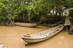 sampan vietnam Arkivbilder