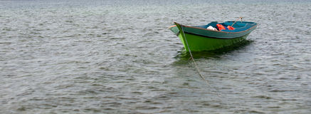 Sampan on the water Royalty Free Stock Images
