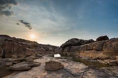 Sampanbok泰国的大峡谷 免版税库存照片