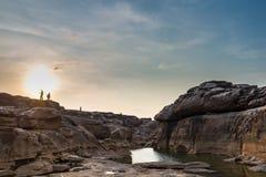 Sampanbok泰国的大峡谷 免版税库存图片