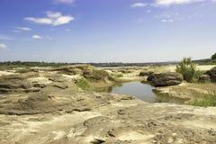 Sampanbok湄公河 免版税库存图片