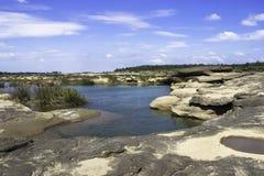 Sampanbok湄公河 库存图片