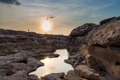 Sampanbok The Grand canyon of Thailand Stock Photography