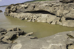 Sampanbok Mekong rzeka Zdjęcia Royalty Free