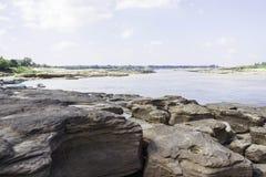 Sampanbok Mekong rzeka Zdjęcie Royalty Free