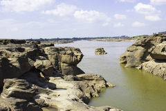 Sampanbok Mekong rzeka Obrazy Royalty Free