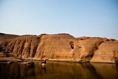 SAMPANBOK UBONRATCHATHANI aktywność na Mekong rzece Fotografia Royalty Free