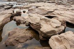 Sampanbok Ubonratchathani - Grandcanyon of Thailand. Royalty Free Stock Images