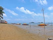 Sampans in Batam, Indonesia Royalty Free Stock Photography