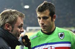 Sampdoria Genoa GK Gianluca Curci Stock Photography