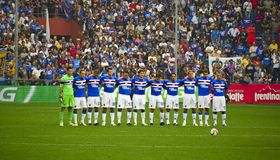 Sampdoria Genoa before the match Royalty Free Stock Photo